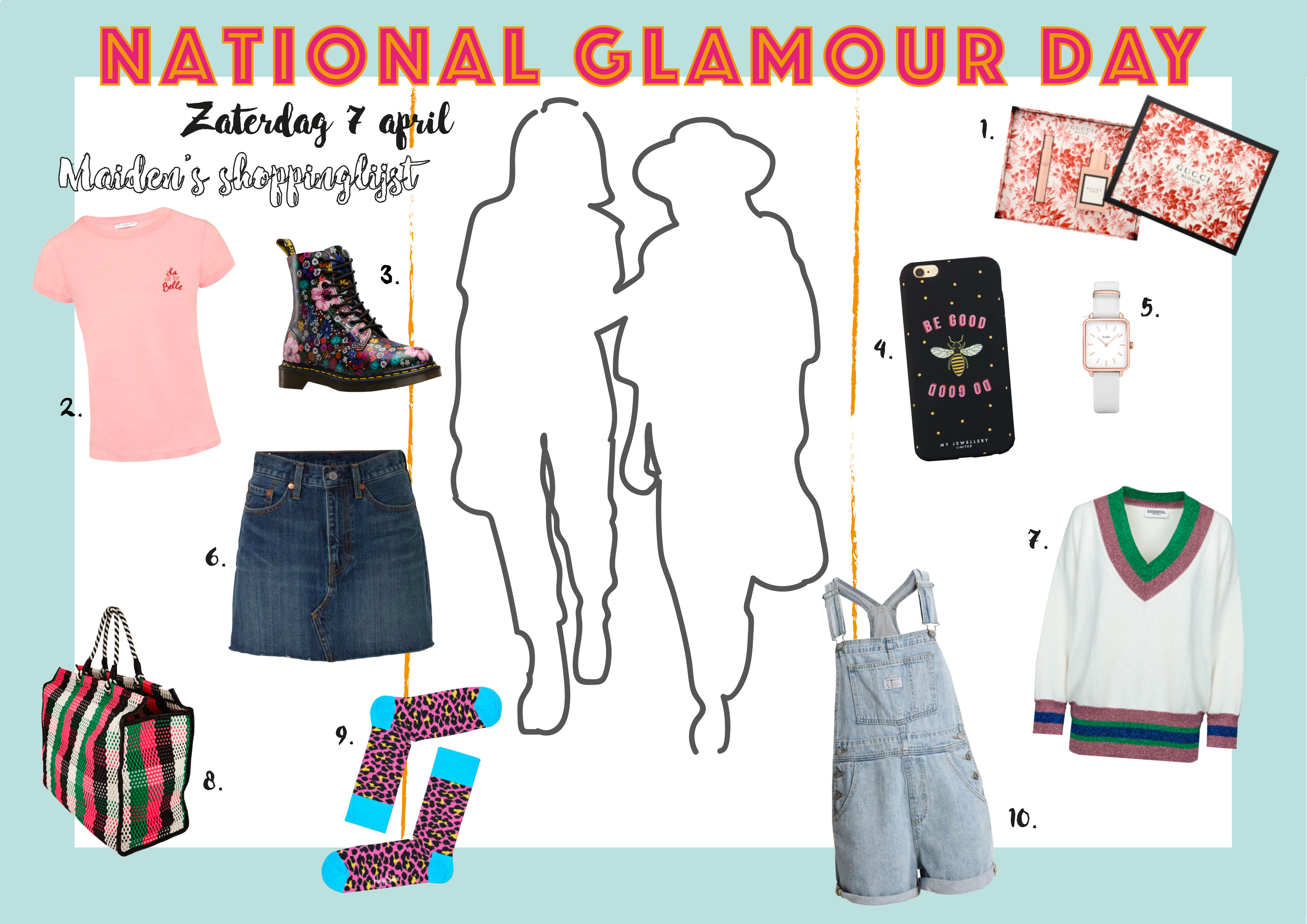 Maiden's shoppinglijst voor National Glamour Day